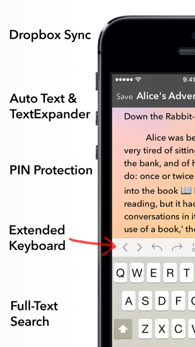 Write 2 - The Best Note Taking App with Auto Sync to Dropbox iPhone Screenshot 1