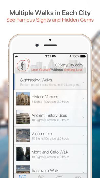 Bologna Map and Walking Tours iPhone Screenshot 1