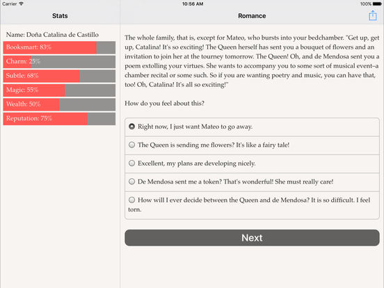 Choice of Romance iPad Screenshot 2