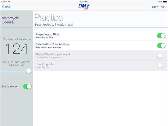 Motorcycle Test Prep iPad Screenshot 2