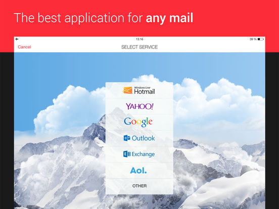 myMail – Free Email App for Hotmail, Gmail and Yahoo Mail screenshot