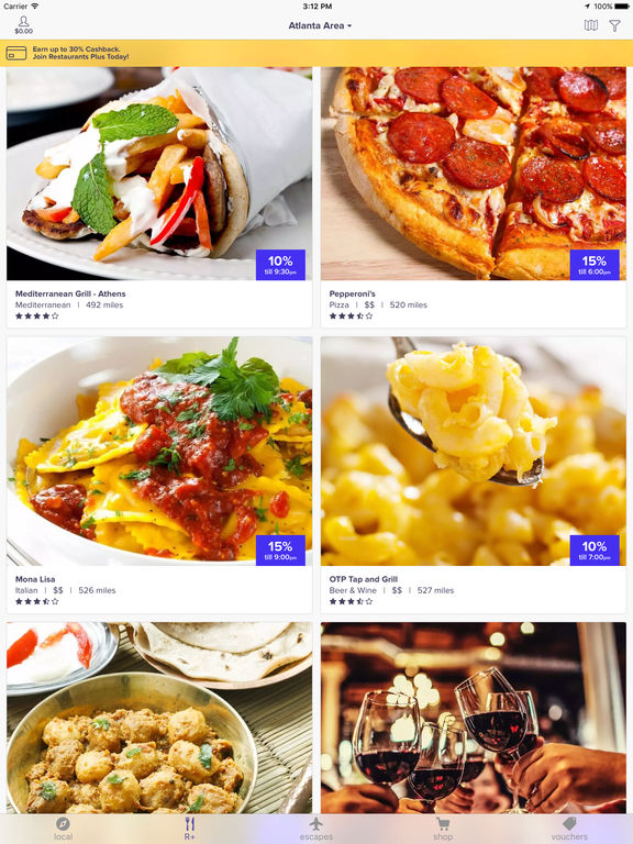 LivingSocial - Deals on Restaurants, Spas, Hotels, Concerts and more screenshot