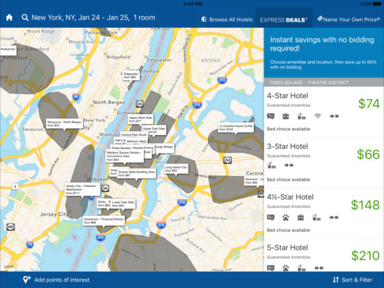 Priceline.com Hotels, Flights and Rental Cars screenshot