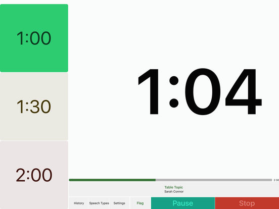 Speech Timer Free iPad Screenshot 2