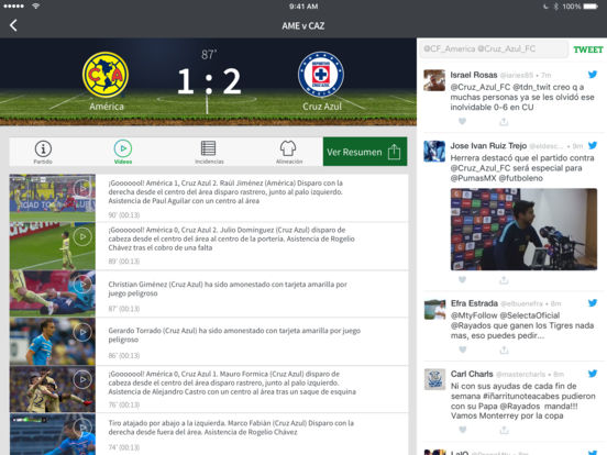 Univision Fútbol iPad Screenshot 1