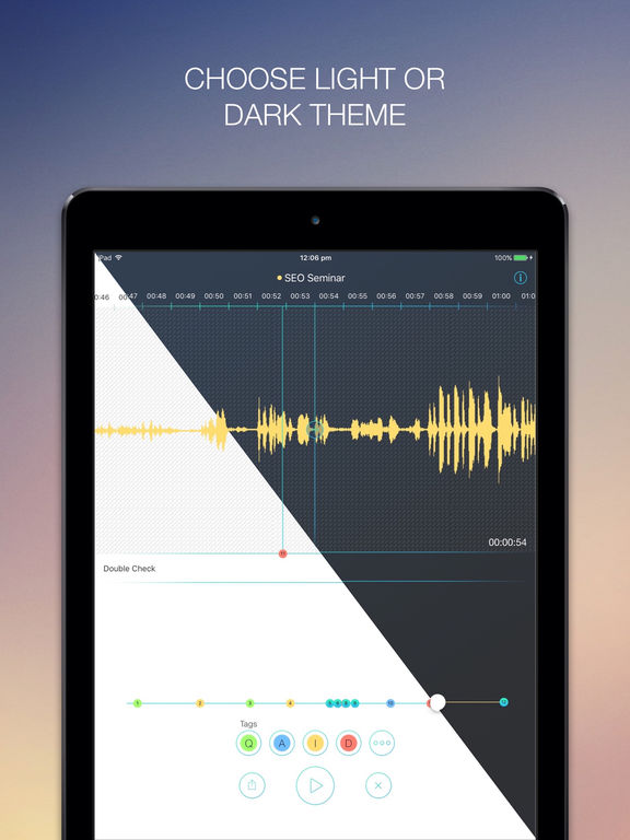 RecApp - The Most Advanced Free Voice Recorder for Recording Interviews, Lectures, Meetings, Keynotes and Songwriting screenshot