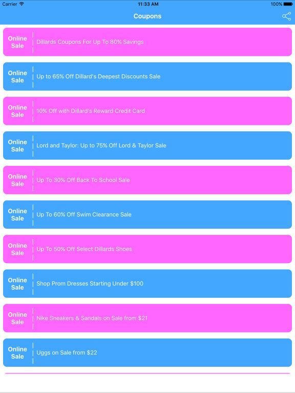 Coupons for Dillards Shopping App-ipad-1