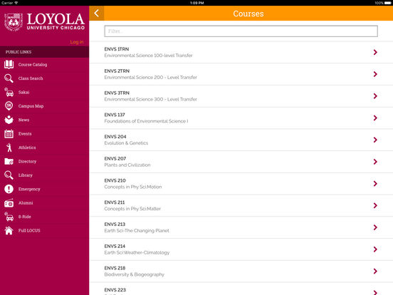 Loyola iPad Screenshot 3