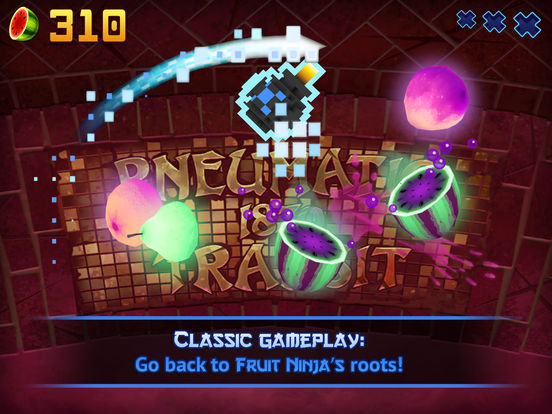 Screenshots of Fruit Ninja for iPad