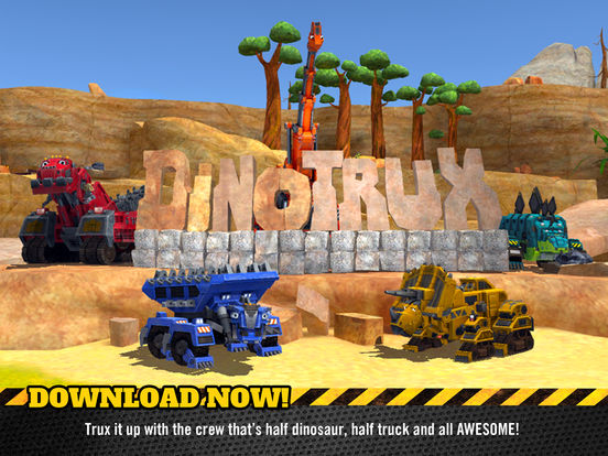 Dinotrux: Trux It Up! - dinosaurs, trucks, cranes and dozers for kids Screenshots