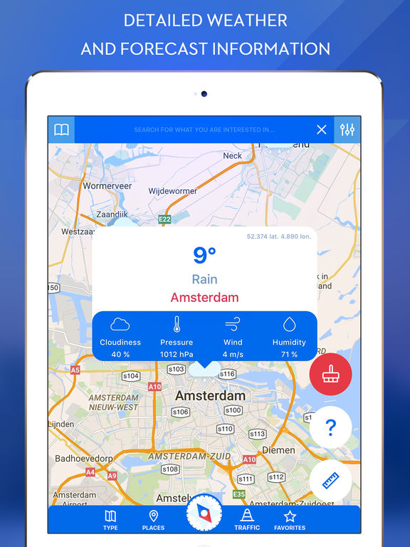 GPS Navigation for Google Maps-ipad-3