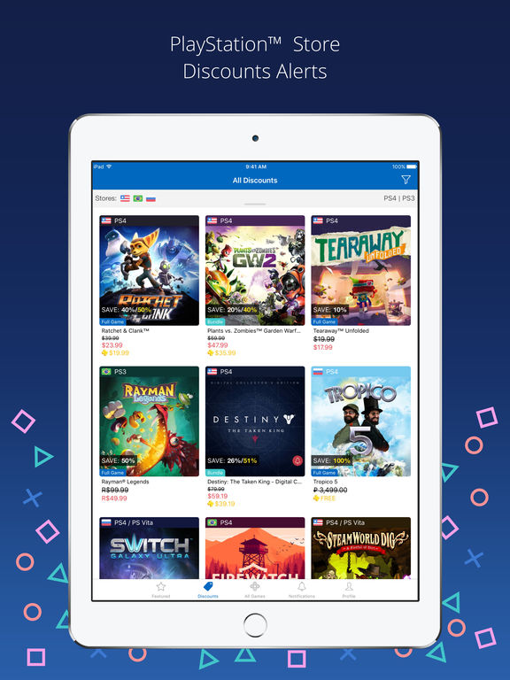 PS Deals - PlayStation™ Store Discounts Alerts for your PS4, PS3, PS Vita & PSP games in one app screenshot