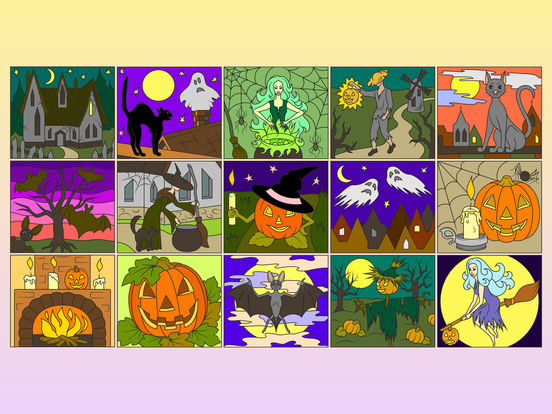 Раскрась по номерам - Хэллоуин