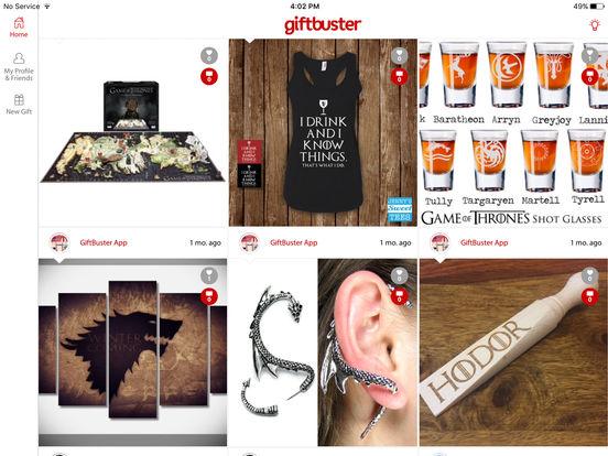 GiftBuster - Wish list. Shopping list. Cash Registry screenshot