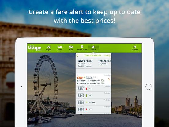 Comparateur de vols pas chers by liligo.com iPad Screenshot 3