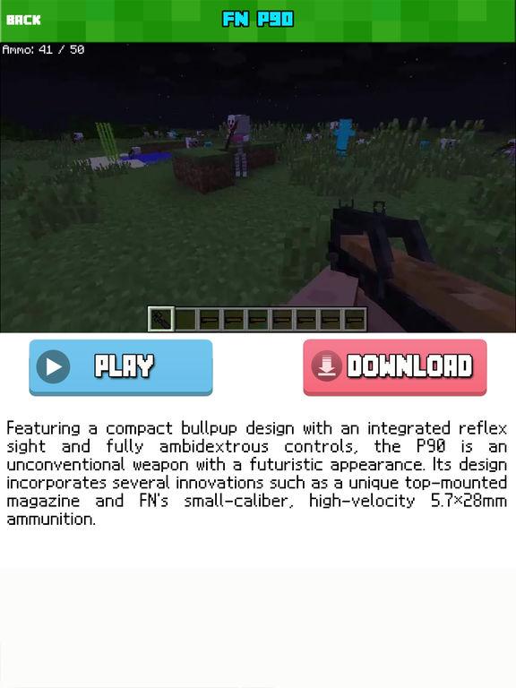 GUN MOD FREE - Weapon & War Gun For Minecraft Game PC Edition-ipad-2