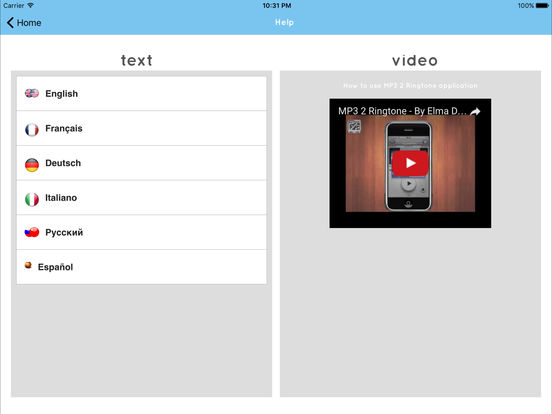 MP3 2 Ringtone GOLD iPad Screenshot 4