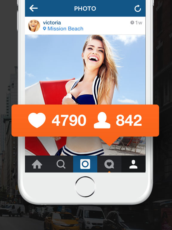 Screenshots of Followers, instagram followers, instagram likes on 1000Followers - Get followers for instagram and likes for free! for iPad