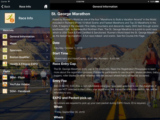 St. George Marathon screenshot