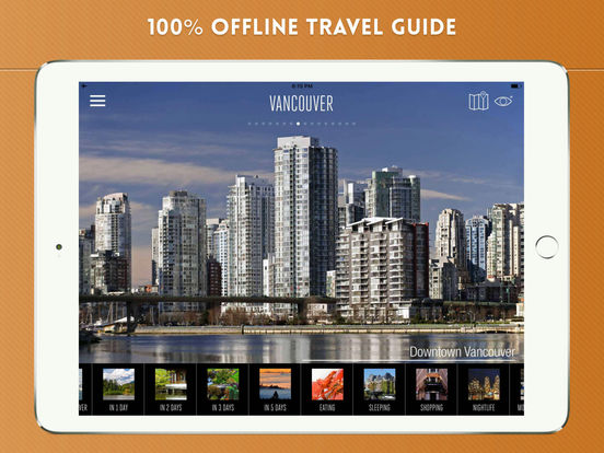Vancouver City Travel Guide iPad Screenshot 1