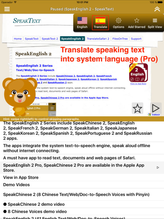 SpeakEnglish 2 (41 English TTS Voices) Screenshots