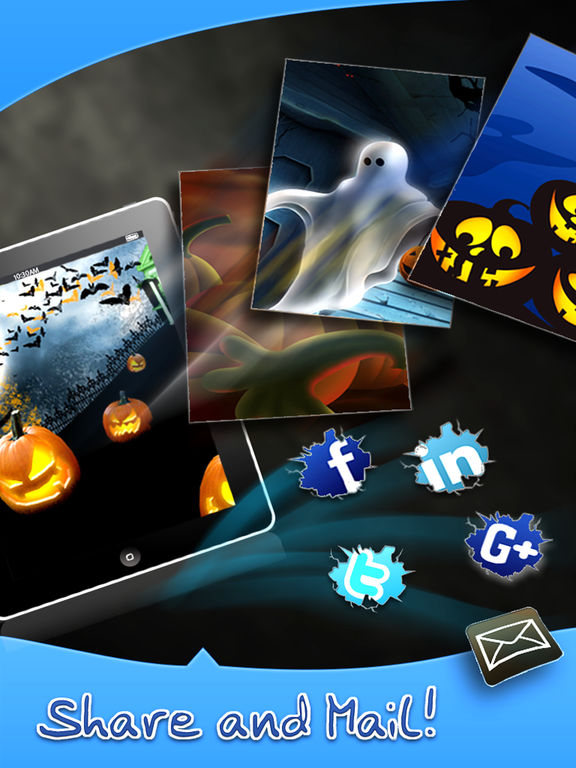 HD Halloween Wallpapers Pro for iPhone 5/iPad Screenshots
