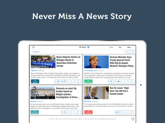 World News App - Breaking International Daily News Headlines screenshot