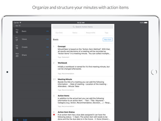 MinuteTaker - Meeting Minutes creation and sharing screenshot
