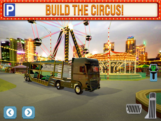 Screenshots of Amusement Park Fair Ground Circus Trucker Parking Simulator for iPad