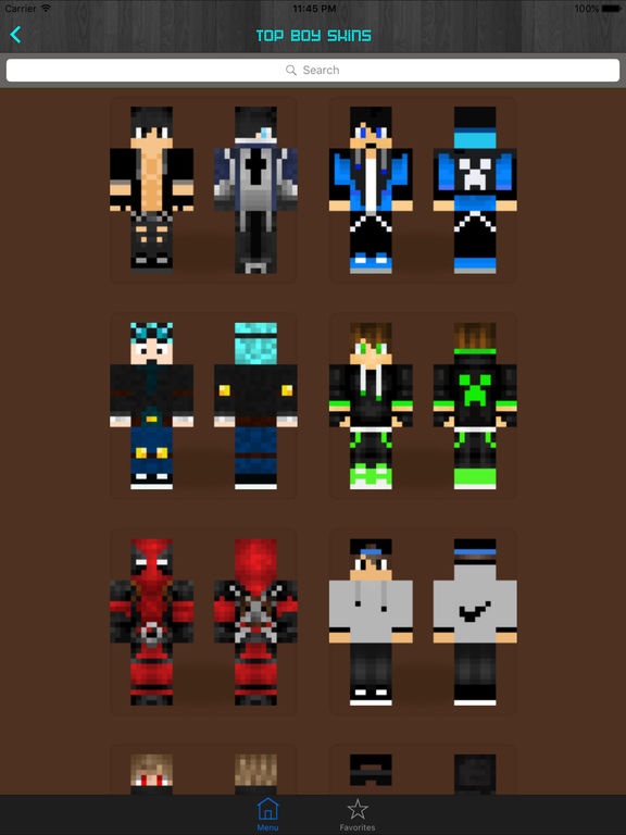 Screenshots of Boy Skins for Minecraft PE (Pocket Edition) - Free Skins App for MCPE PC for iPad