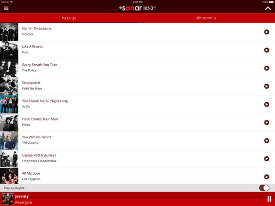 Sonar FM Mobile iPad Screenshot 1