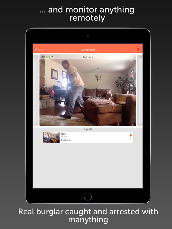 Manything home security camera app with cloud DVR