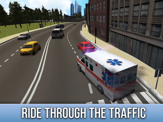 Ambulance Driving Simulator 3D Full screenshot 6