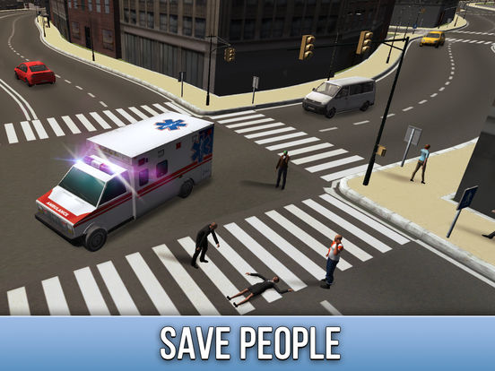 Ambulance Driving Simulator 3D Full screenshot 7