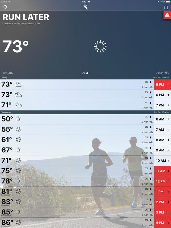 Runcast - Weather for Runners screenshot 6
