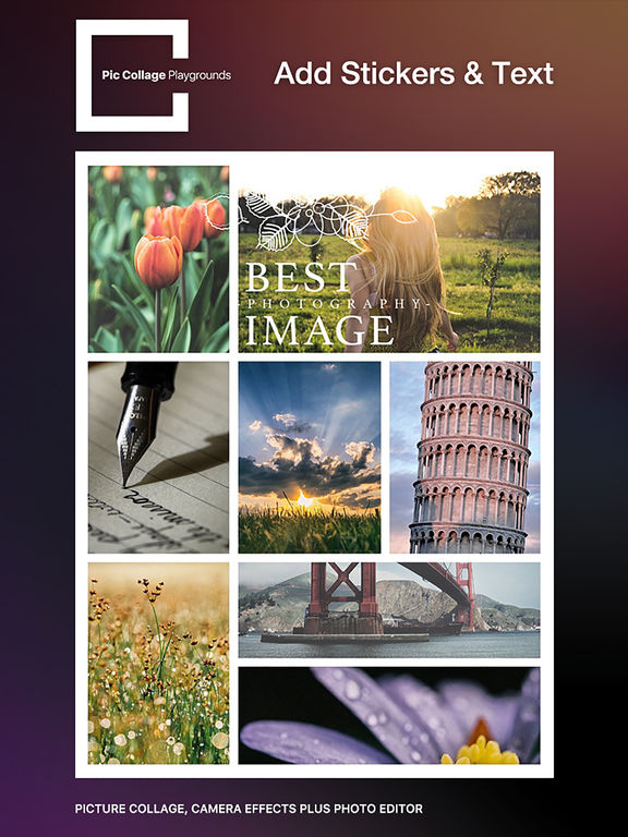 Pic Collage Playgrounds Pro - photo editor and pic collage Maker Screenshots
