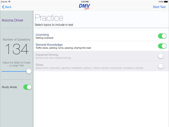 DMV Test Prep - Arizona iPad Screenshot 2