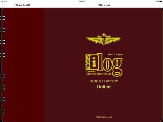 FltCrew-iLog ... Airline Crew Logbook iPad Screenshot 1