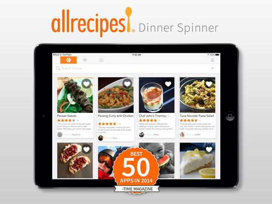 Screenshots of Allrecipes Dinner Spinner for iPad