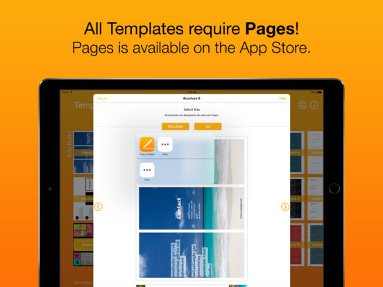 templates for pages for ipad iphone ipod touch apppicker