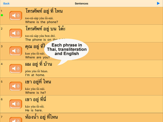 Thai for Beginners iPad Screenshot 1