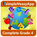 Complete Grade 4 (Math, English and Science) - A simpleNeasyApp by WAGmob