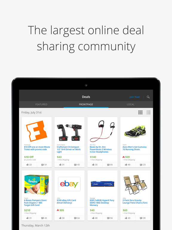 Slickdeals - Today's Best Deals, Discounts and Coupons screenshot