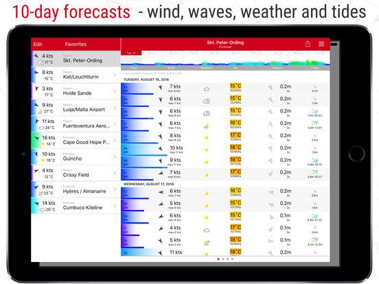 Windfinder iPad Screenshot 1