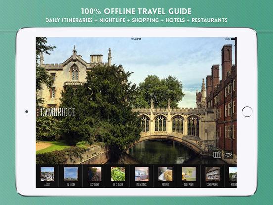 Cambridge Travel Guide iPad Screenshot 1