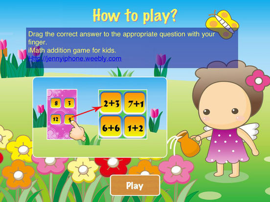 iMath Addition Game iPad Screenshot 1