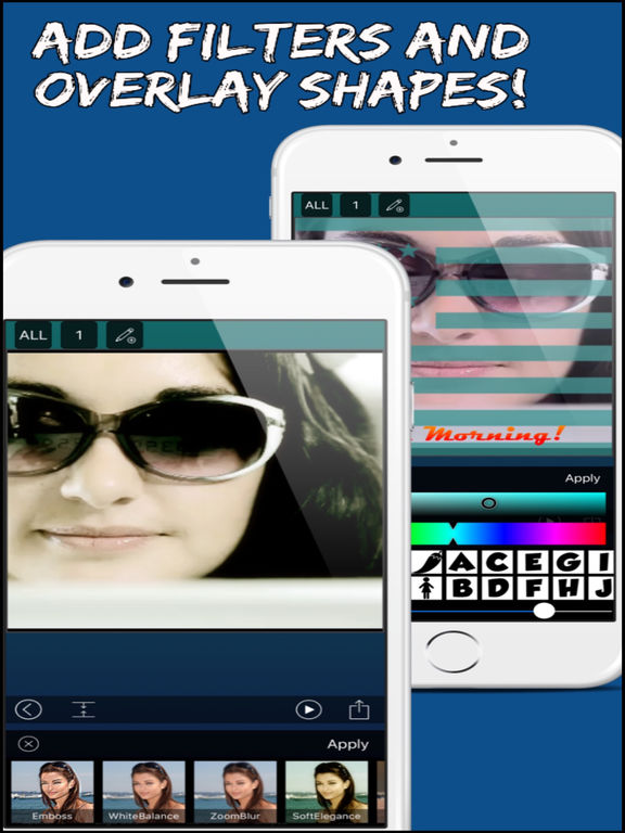 Screenshots of Video Editor Free - Combine Videos, Change Speed, Add Animated Text and Music! for iPad