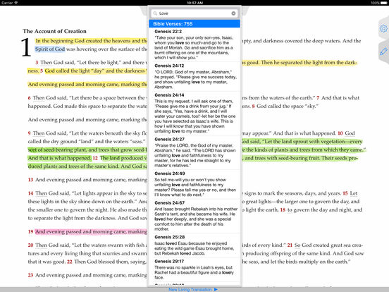 NLT Bible iPad Screenshot 2