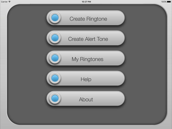 MP3 2 Ringtone GOLD iPad Screenshot 1