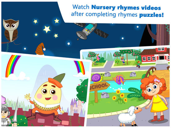 Buzzle with Nursery Rhymes - Educational puzzle app for toddlers, preschool and kindergarten kids screenshot
